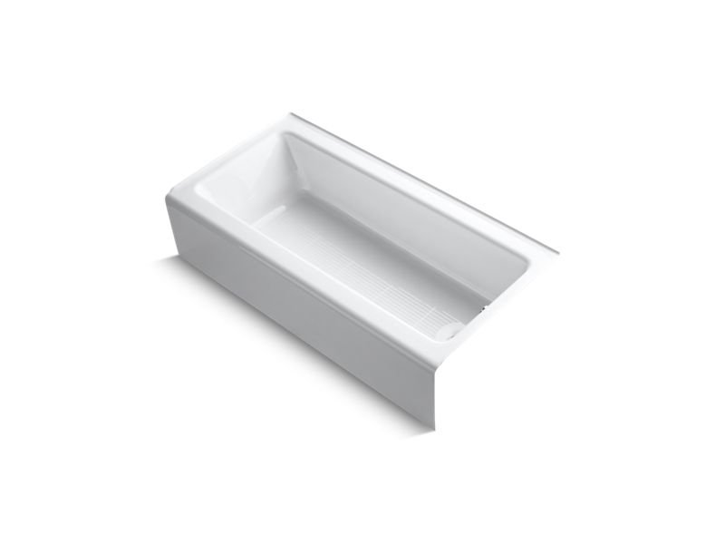 "Kohler K-838-0 Bellwether 60"" x 30"" Alcove Bath with Integral Apron and Right-Hand Drain in White"