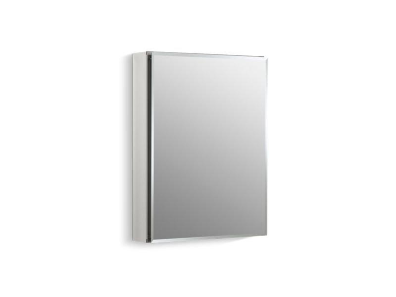 "Kohler K-CB-CLC2026FS 20"" W X 26"" H Aluminum Single-Door Medicine Cabinet with Mirrored Door and Beveled Edges"