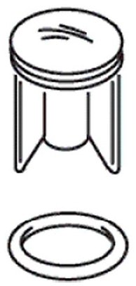 Kohler K-21318-BN Vibrant Brushed Nickel, Sink Drain Stopper Assembly