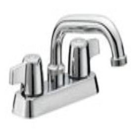 "Matco Norca Classic CL-386CA 1/2"" Npsm Chrome Brass 4"" Center 2-Handle Laundry Tray Faucet"