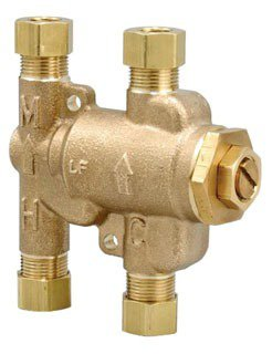 "Watts 204143 3/8"" Compression 2.25Gpm 150Psi Brass Thermostatic Tempering Valve"
