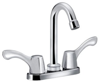 "Cleveland Faucet Group Cornerstone CA40813 1/2"" 2Gpm Chrome 2-Handle 4"" Center Bathroom Sink"
