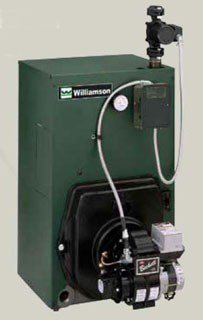 "Williamson OWB-3-T-S2-W_007 98Mbh 10.9Gallon 8"" X 8"" Vent Cast Iron Water Oil Fired Boiler"