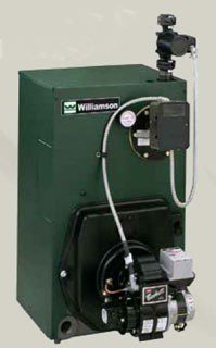 "Williamson OWT-4-T-S2-W_007 140Mbh 13.4Gallon 8"" X 8"" Vent Cast Iron Water Oil Fired Boiler And Tankless Heater"