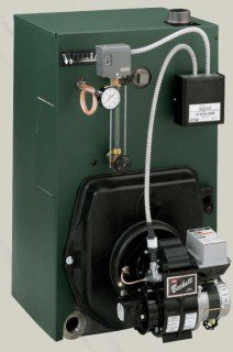 "Williamson OSB-4-P-S2-W 114Mbh 12.5Gallon 8"" X 8"" Vent Cast Iron Floor Mount Steam Oil Fired Boiler"