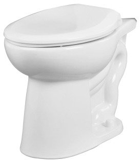 """Gerber Maxwell 21-952 14-7/8"""" 1.1/1.6Gpf White Vitreous China Round Front Toilet Bowl"""