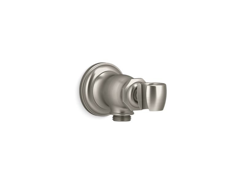 Kohler K-72797-BN Artifacts Wall-Mount Handshower Holder and Supply Elbow in Vibrant Brushed Nickel
