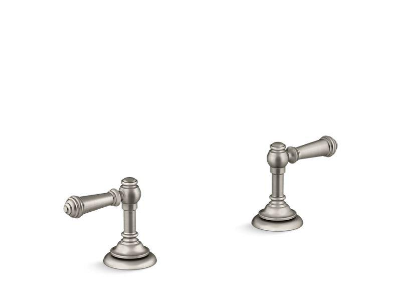 Kohler K-98068-4-BN Artifacts Bathroom Sink Lever Handles in Vibrant Brushed Nickel