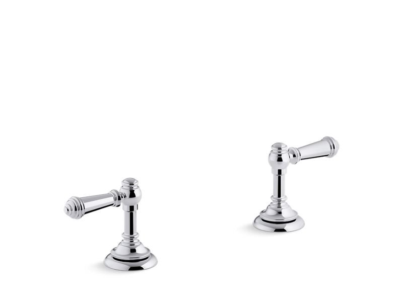 Kohler K-98068-4-CP Artifacts Bathroom Sink Lever Handles in Polished Chrome