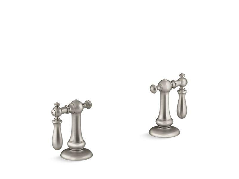 Kohler K-98068-9M-BN Artifacts Bathroom Sink Swing Lever Handles in Vibrant Brushed Nickel