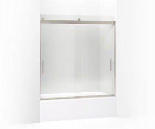"Kohler Levity K-706103-L-NX 31-1/2"" X 62"" Brushed Nickel Glass Rear Sliding Shower Door Panel And Assembly Kit"