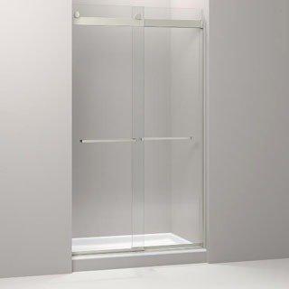 Kohler Levity K-706217-L-NX Brushed Nickel Glass Front Shower Door Panel And Assembly Kit