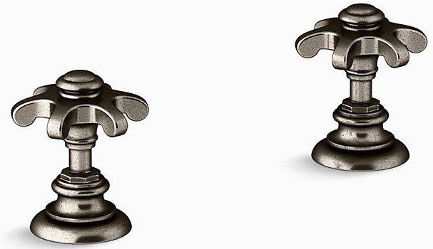 Kohler K-T98071-3M-VNT Artifacts Deck-mount Bath Prong Handle Trim in Vintage Nickel