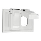 Weather-Resistant Gray Thermoplastic Leviton Available 4976-GY 1-Gang Duplex Wallplate Cover Device Mount 3 Horizontal